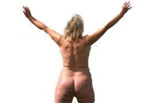 Naturist jumping at Nudist UK